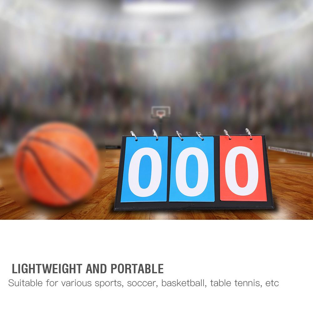 Liuer Portable Score Digit Flip Sports Scoreboard Waterproof Table Top Scoreboard Sporting Goods for Volleyball//Basketball//Table Tennis//Basketball//Darts Match