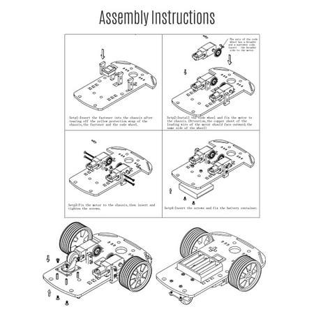Kit d'assemblage de voiture intelligente de robot deux roues évitement d'obstacles intelligent suivi sans fil BT télécommande petit châssis de voiture kit de bricolage ensemble - image 7 of 7
