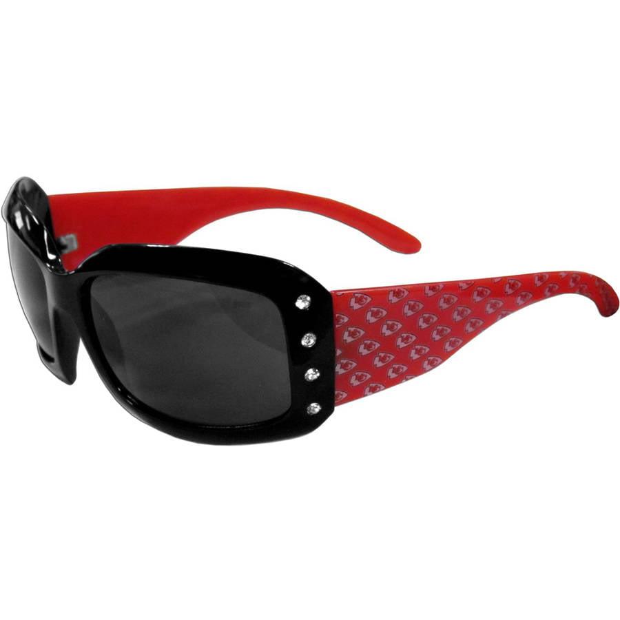 NFL Kansas City Chiefs Women's Designer Sunglasses with Rhinestones
