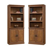 (Set of 2) Wooden 3 Shelf Bookcase in Milled Cherry