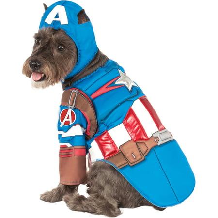 Captain America Pet Halloween Costume - Captain America Pet Costume