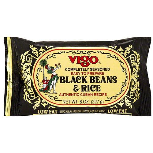 Vigo Completely Seasoned Black Rice & Beans, 8 oz (Pack of 12) by Generic