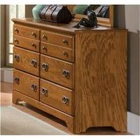 Carolina Furniture 385600 Creek Side Double Dresser In Autumn Oak