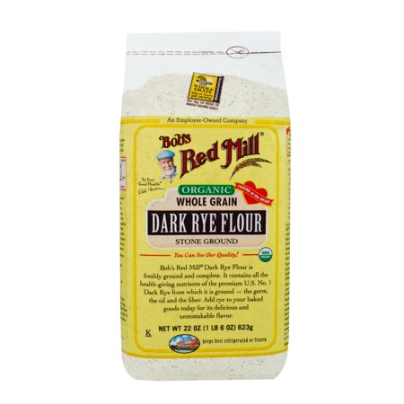 (2 Pack) Bobs Red Mill Organic Dark Rye Flour, 22 (Best Home Flour Mills)