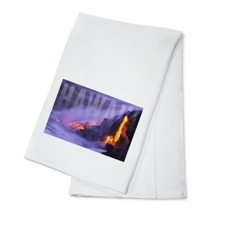 Hawai'i - Lava Flow - Lantern Press Photography (100% Cotton Kitchen - Lava Flow Recipe