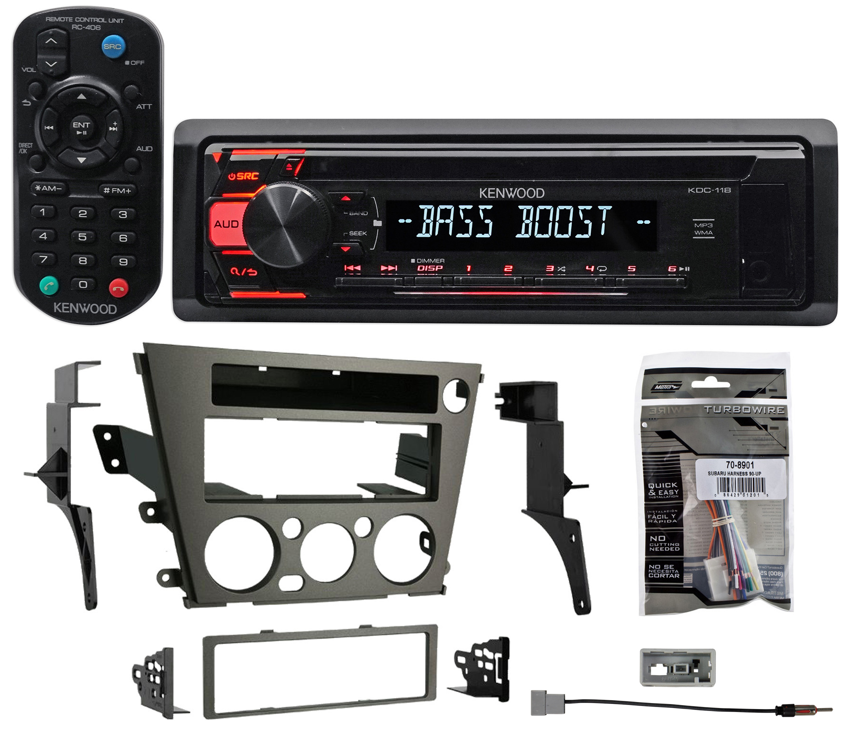 2005-2009 Subaru Outback Kenwood CD Player Receiver Stereo MP3 Aux+Remote by Kenwood