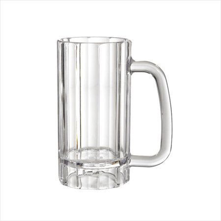 Plastic Reusable 20 oz 3.5 x 6.25 Beer Mug with Handle Clear Polycarbonate/Case of 12 - 20 Oz Beer Mug
