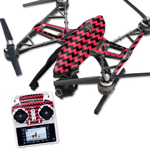 Skin Decal Wrap for Yuneec Q500 & Q500+ Quadcopter Drone Zig Zag Chevron