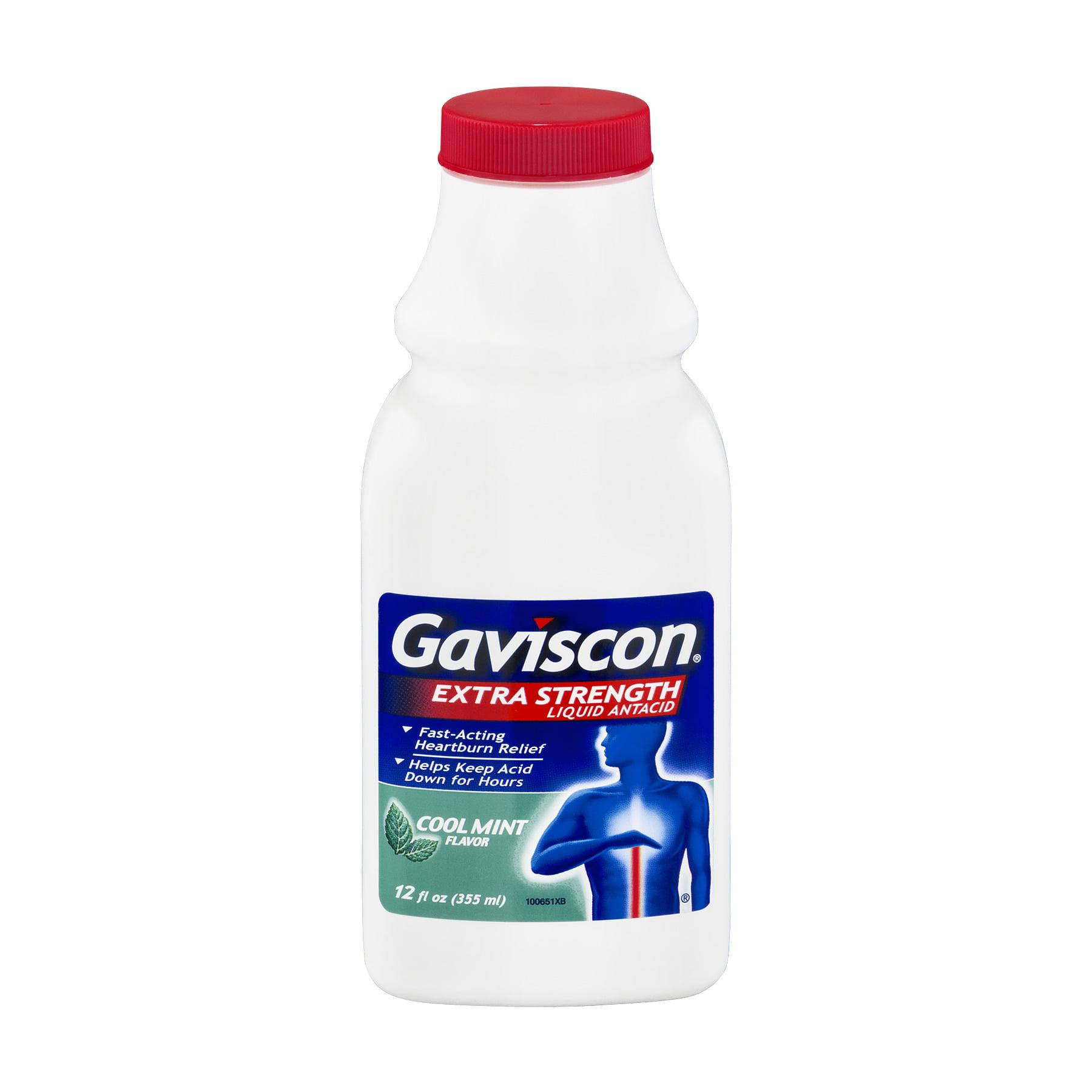 Gaviscon Extra Strength Liquid Antacid Cool Mint, 12.0 FL OZ