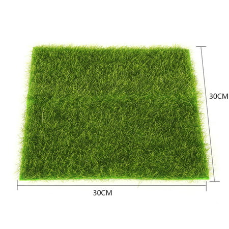 Outtop Artificial Faux Garden Turf Grass Lawn Moss Miniature Craft Dollhouse Decor