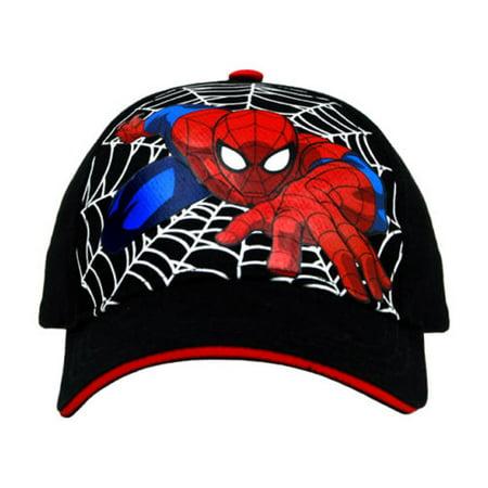 (Spiderman Black Baseball Cap – Boys Toddler)