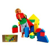 Oversized Soft Building Blocks in Assorted Shapes and Colors (16 Pieces)