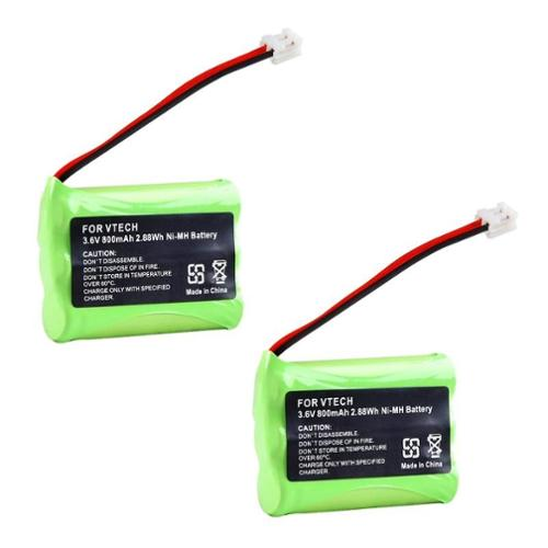 Insten Extra Ni-Mh Cordless Phone Battery For Vtech 89-1323-00-00 5829 6725 6772 6803 6822bat 6872 6880 6897 (2 Pack)