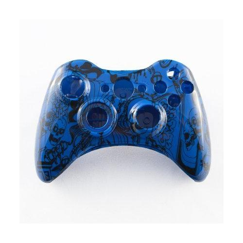 Blue Kooky Skulls Custom Controller Shell for XBOX 360