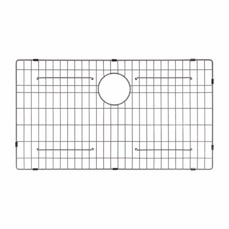"Stainless Wire Bottom Grid - KRAUS KBG-100-32 Stainless Steel Bottom Grid for KHU100-32 Single Bowl 32"" Kitchen Sink, 29 9/16"" x 16 9/16"" x 1 3/8"""