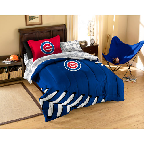 mlb applique bedding comforter set with - walmart