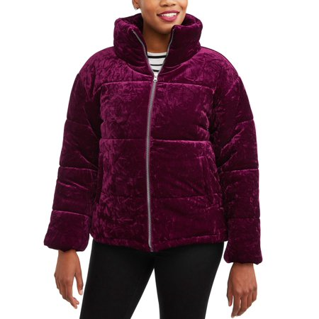 Climate Concepts Women's Crushed Velvet Bubble Jacket