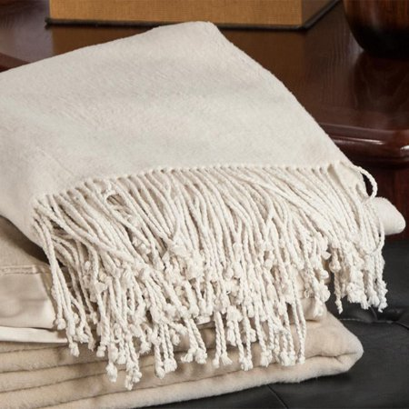 (Aus Vio 100 % Silk Fleece Throw Blanket)