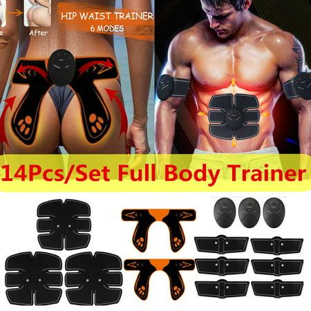 14Pcs/Set Muscle Training Gear, ABS Stimulator Back/Arm/Leg Abdominal Muscle Trainer, Hip Butt Lifter Buttocks Lift Up Pefect Body Shape Home