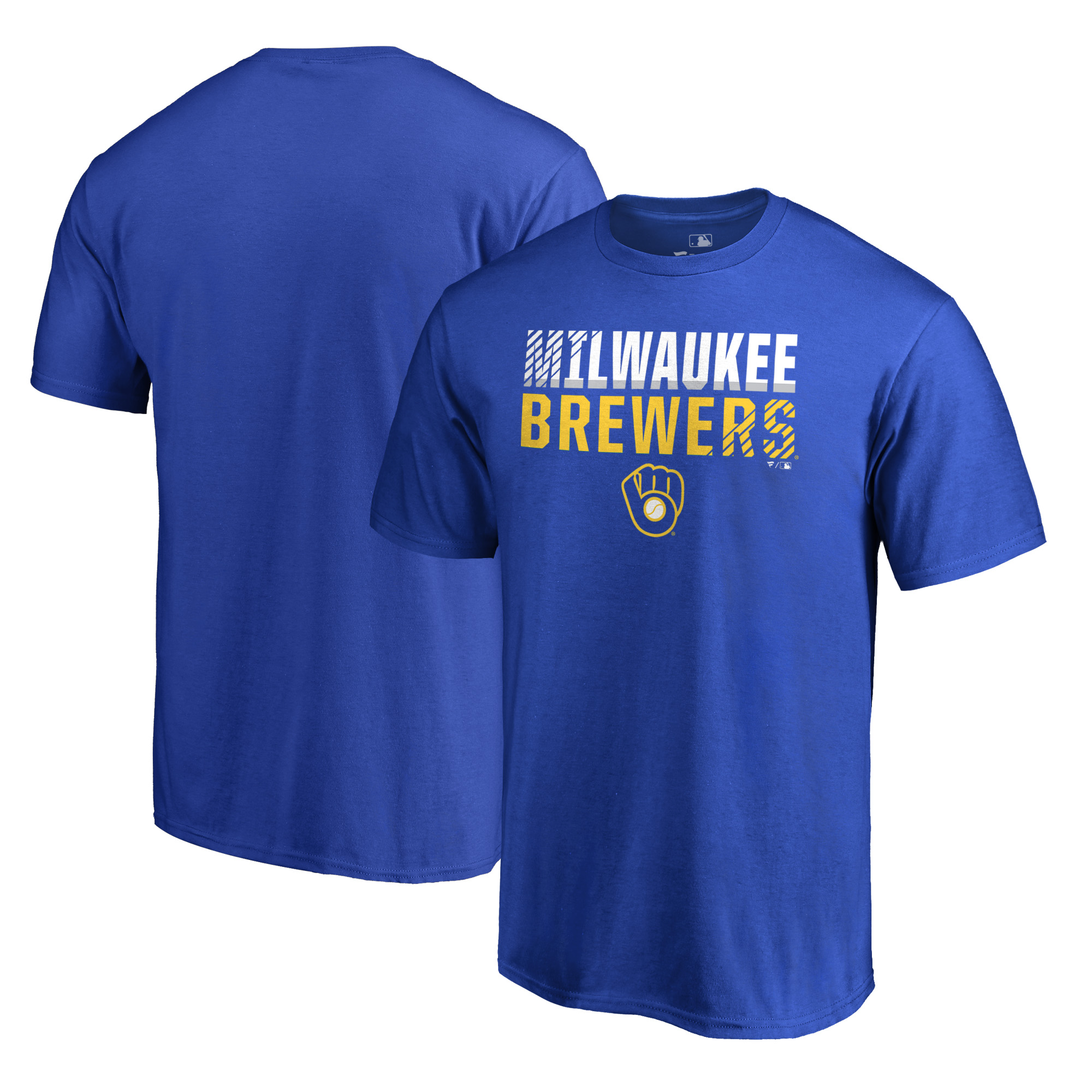 Milwaukee Brewers Fanatics Branded Big & Tall Fade Out T-Shirt - Royal