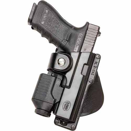 Fobus GLT19RB Rotating Belt Holster Black Polymer RH for Glock 19 w Laser Light by Fobus