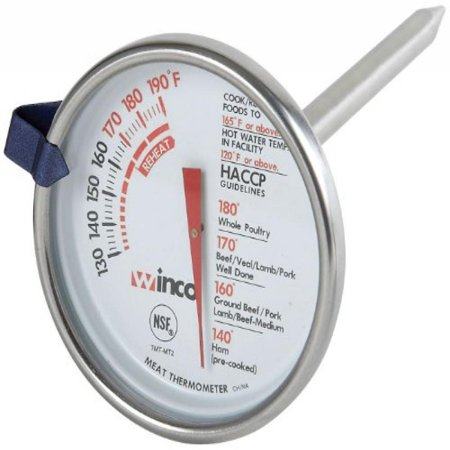 Winco 2-Inch Dial Meat Thermometer with 5-Inch Probe