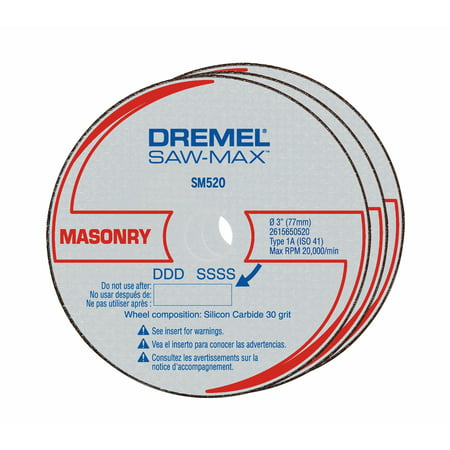 Dremel SM520 3 inch Masonry Cut-Off Wheel 3' Cut Off Wheel Tool