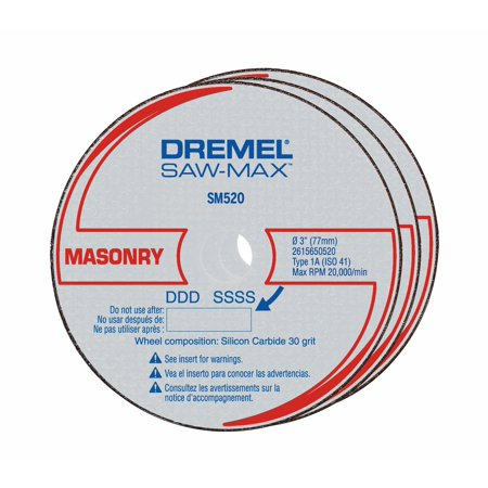 Dremel SM520 3 inch Masonry Cut-Off Wheel