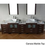 VIRTU USA  Dior 110 inch Double Sink Vanity Set in Espresso