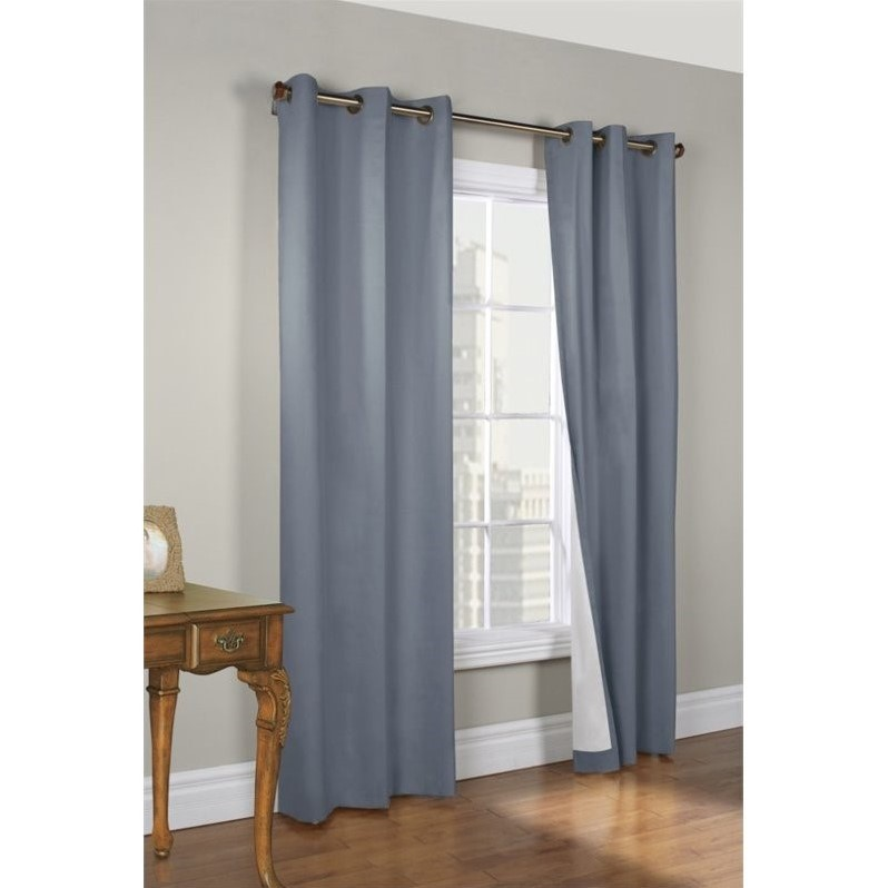 Commonwealth Weathermate 95 Grommet Curtain Panel In Blue Set Of 2