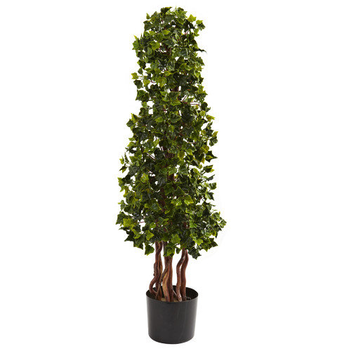 Nearly Natural Nearly Natural English Ivy Spiral Tree in Pot