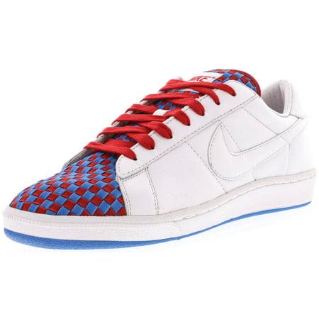 8af321a9da2cb Nike Men's Tennis Classic White/Orion Blue Ankle-High Suede Fashion Sneaker  - 11M ...