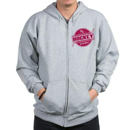 CafePress - #1 Hockey Grandma - Zip Hoodie, Classic Hooded Sweatshirt with Metal Zipper