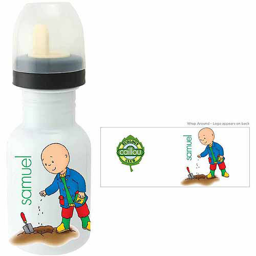 Personalized Caillou Planting Sippy Bottle