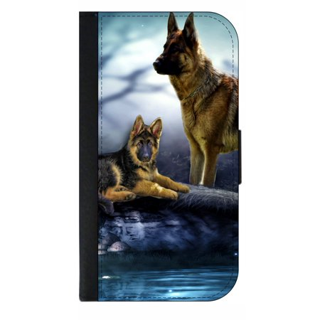 Schafer Dogs - Wallet Style Phone Case with 2 Card Slots Compatible with the Standard Samsung Galaxy s6 Universal ()