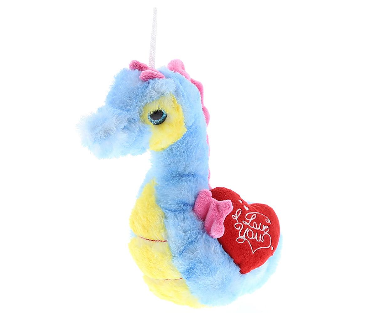 Gifts For Wedding Night: Dollibu Blue Seahorse I Love You Valentines Stuffed Animal
