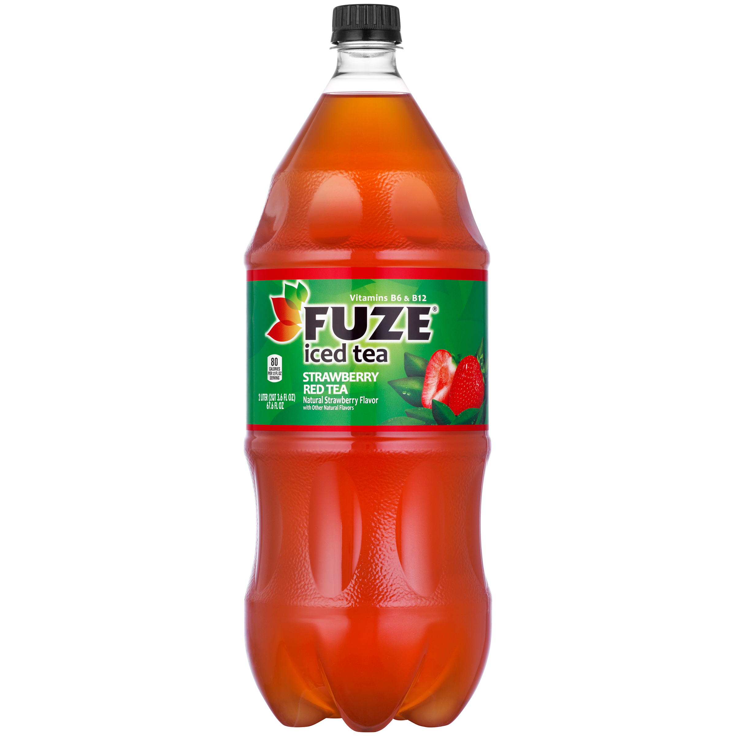Fuze Iced Tea Strawberry Red Tea Bottle, 2 Liter