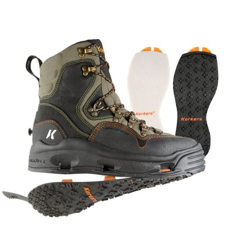 Korkers K-5 Bomber Fly Fishing Wading Boot with Felt and Kling-On (Korkers Studded Felt)