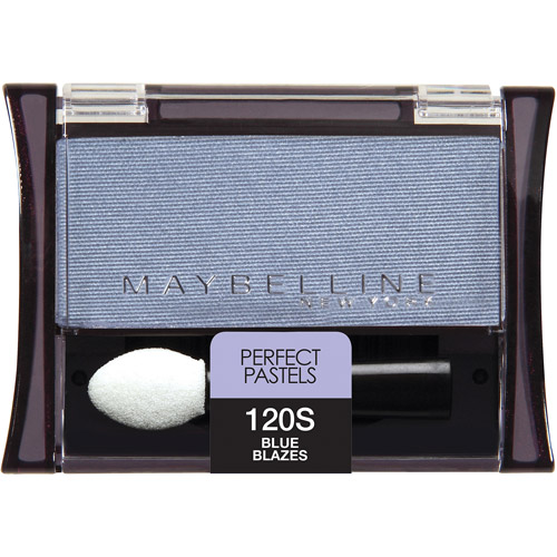 Maybelline Expert Wear Perfect Pastels Shimmer Eyeshadow Singles, 120 Blue Blazes, 0.09 oz