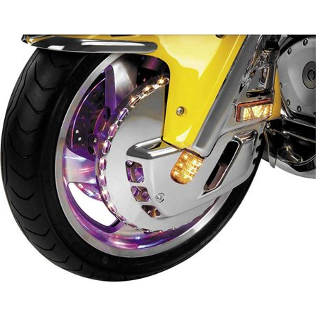 - Show Chrome Lighted Front Rotor Cover - HON GOLD WING 2001 - 2004; HON GOLD WING