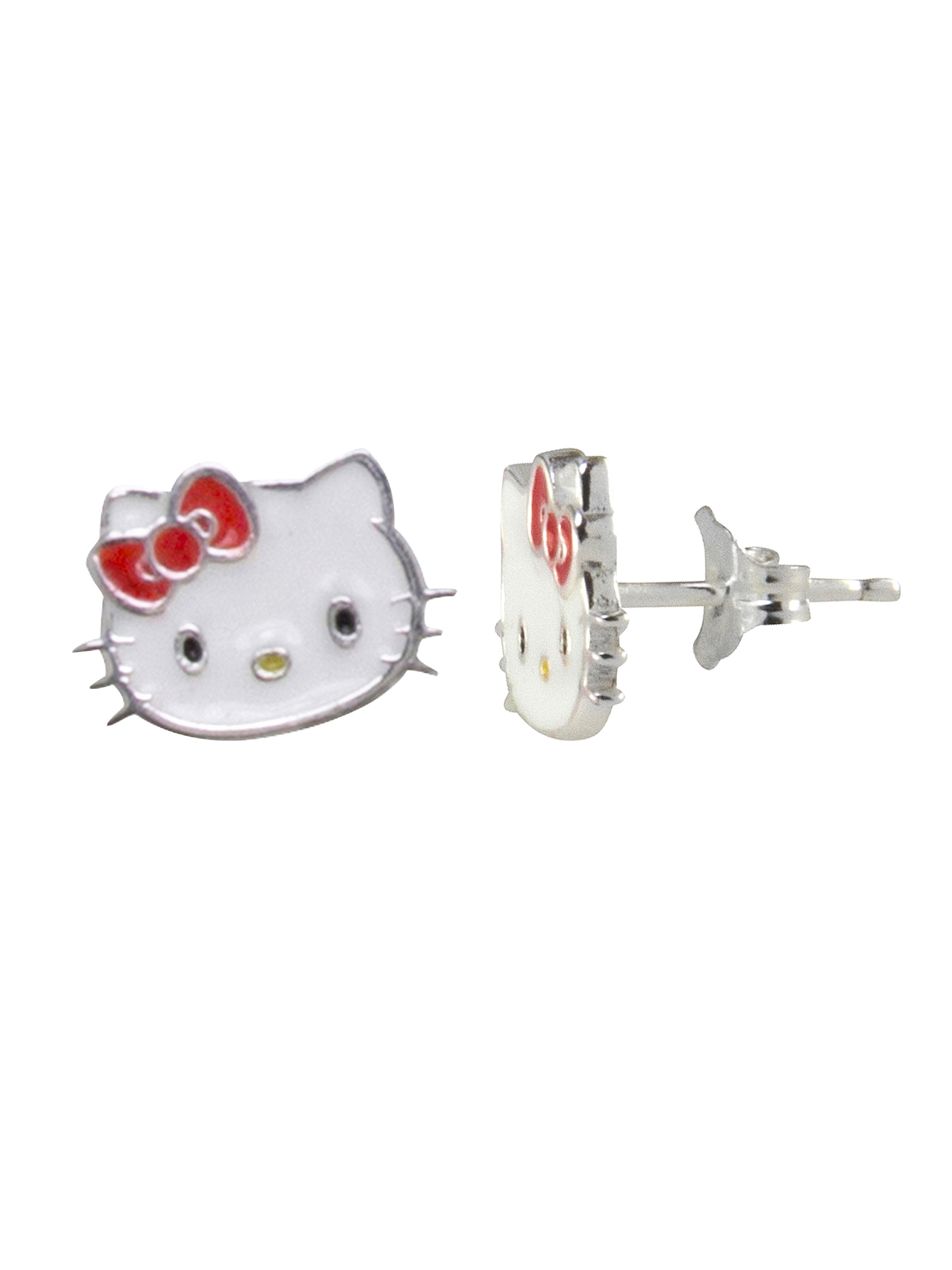mini red and blue hello kitty earrings