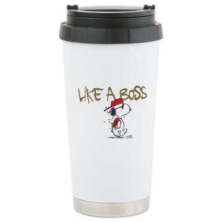 CafePress - Peanuts Snoopy Like A B Stainless Steel Travel Mug - Stainless Steel Travel Mug, Insulated 16 oz. Coffee Tumbler](Snoopy Halloween Tumblr)