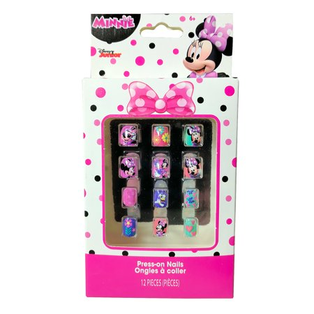 Disney Minnie Mouse 12 Pack Press-On Nails Beauty Dress Up Pretend - Minnie Mouse Pack And Play