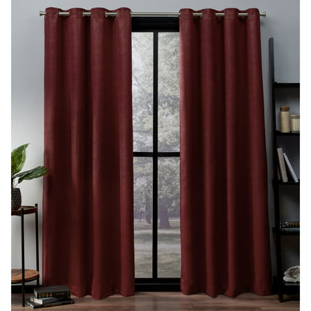 - Exclusive Home Curtains 2 Pack Oxford Textured Sateen Thermal Grommet Top Curtain Panels