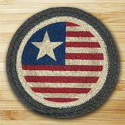 Earth Rugs 80-1032 Round Miniature Swatch, Original Flag, printed