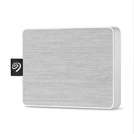 Seagate 500GB One Touch SSD External Solid State Drive Portable USB 3.0 (White)