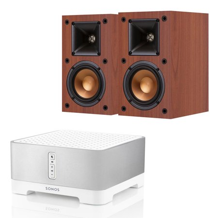 Sonos Connect Amp Wireless Hi Fi Player With Klipsch R 14M Reference Monitor Speakers   Pair