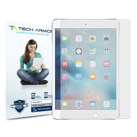 iPad Mini Screen Protector, Tech Armor Anti-Glare/Anti-Fingerprint Apple iPad Mini 1 / 2 / 3 Film Screen Protector [3-Pack]