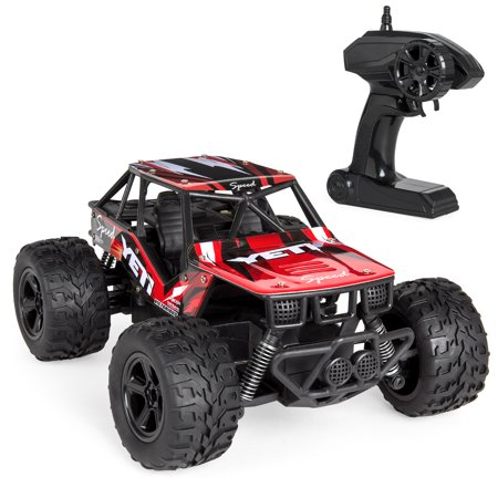 Best Choice Products Kids 1:20 Scale 2.4GHz High Speed 25kmh Remote Control Monster Truck w/ 2WD - Red (Monster Truck Toys)