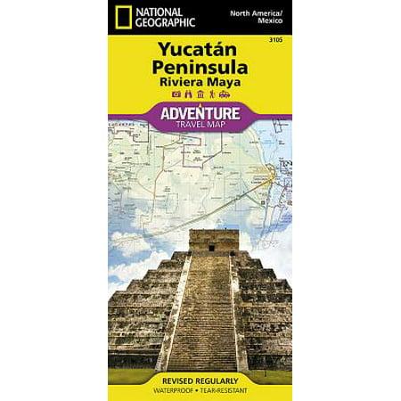 Adventure map: yucatan peninsula: riviera maya [mexico] - folded map: (Best Destination Wedding Resorts In Riviera Maya)